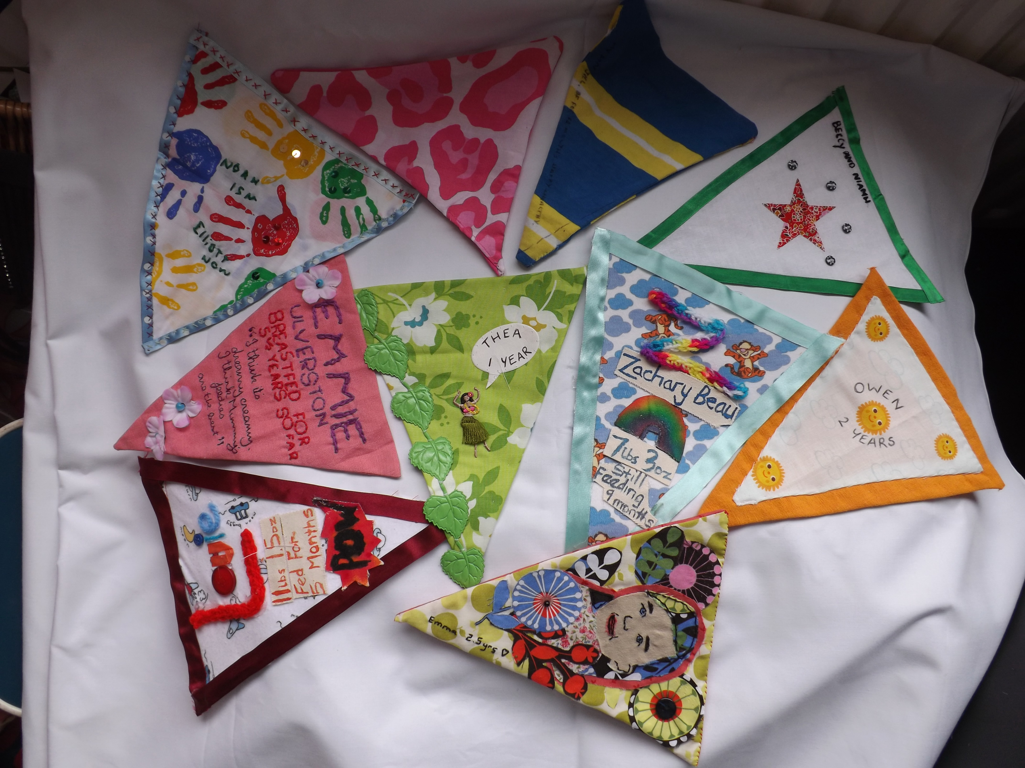 Some of our bunting flags!